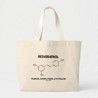 Resveratrol Stilbenoid Natural Phenol Phytoalexin Jumbo Tote Bag