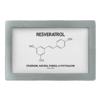 Resveratrol Stilbenoid Natural Phenol Phytoalexin Rectangular Belt Buckles