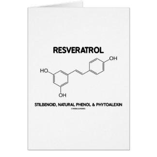 Resveratrol Stilbenoid Natural Phenol Phytoalexin Greeting Card
