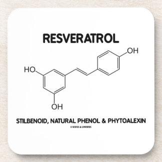 Resveratrol Stilbenoid Natural Phenol Phytoalexin Coaster