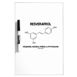 Resveratrol Stilbenoid Natural Phenol Phytoalexin Dry-Erase Whiteboard