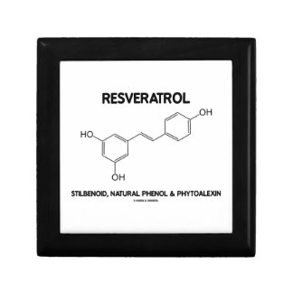 Resveratrol Stilbenoid Natural Phenol Phytoalexin Jewelry Box