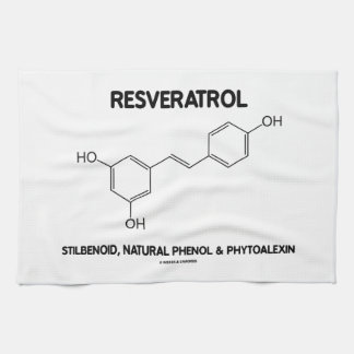 Resveratrol Stilbenoid Natural Phenol Phytoalexin Kitchen Towel
