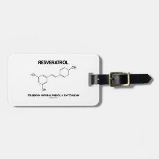 Resveratrol Stilbenoid Natural Phenol Phytoalexin Luggage Tag