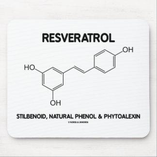 Resveratrol Stilbenoid Natural Phenol Phytoalexin Mouse Pad