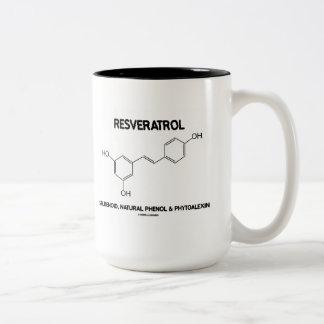 Resveratrol Stilbenoid Natural Phenol Phytoalexin Two-Tone Coffee Mug