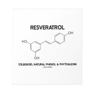 Resveratrol Stilbenoid Natural Phenol Phytoalexin Memo Note Pad