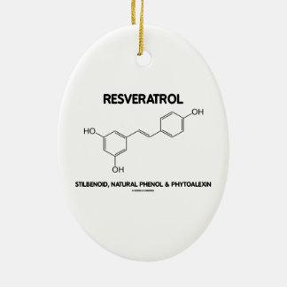 Resveratrol Stilbenoid Natural Phenol Phytoalexin Double-Sided Oval Ceramic Christmas Ornament