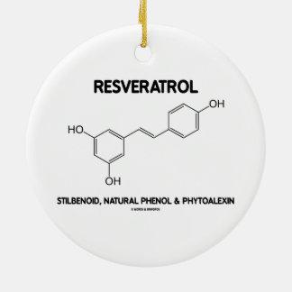 Resveratrol Stilbenoid Natural Phenol Phytoalexin Double-Sided Ceramic Round Christmas Ornament