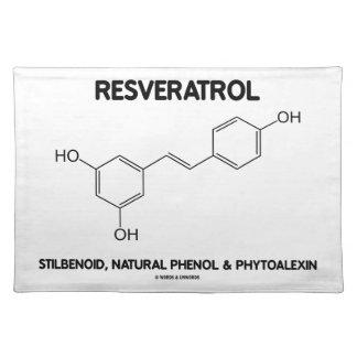 Resveratrol Stilbenoid Natural Phenol Phytoalexin Cloth Place Mat