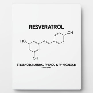 Resveratrol Stilbenoid Natural Phenol Phytoalexin Display Plaque