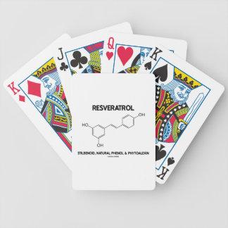 Resveratrol Stilbenoid Natural Phenol Phytoalexin Bicycle Playing Cards