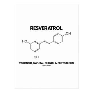 Resveratrol Stilbenoid Natural Phenol Phytoalexin Postcard