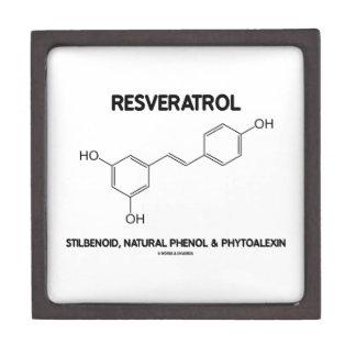 Resveratrol Stilbenoid Natural Phenol Phytoalexin Premium Trinket Boxes