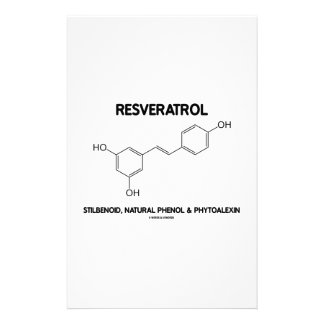 Resveratrol Stilbenoid Natural Phenol Phytoalexin Stationery