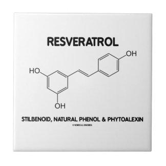 Resveratrol Stilbenoid Natural Phenol Phytoalexin Small Square Tile