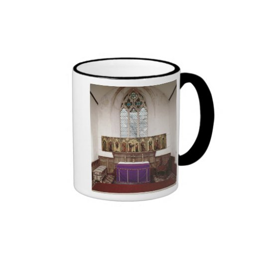 Retable depicting Crucifixion with Eight Coffee Mugs