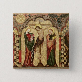 Retable depicting Crucifixion with Eight Pinback Button