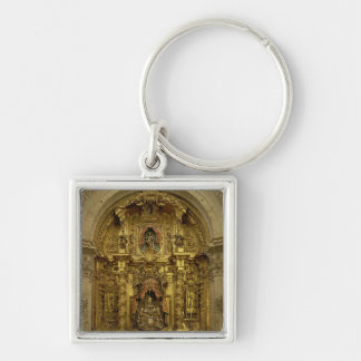 Retable of the Sacrament Chapel Silver-Colored Square Keychain