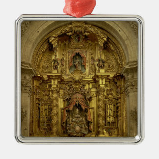 Retable of the Sacrament Chapel Square Metal Christmas Ornament