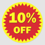 RETAIL BADGE - 10% OFF STICKERS
