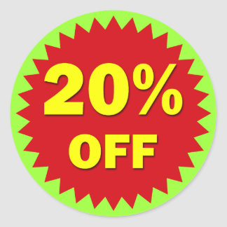 RETAIL BADGE - 20% OFF CLASSIC ROUND STICKER