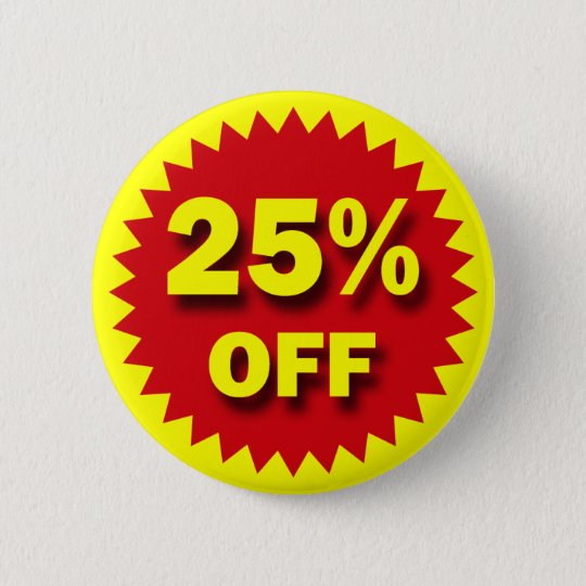 RETAIL BADGE - 25% OFF BUTTON