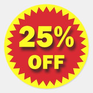 RETAIL BADGE - 25% OFF CLASSIC ROUND STICKER