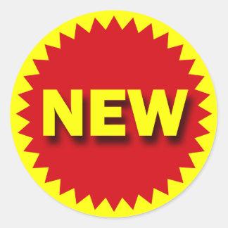 RETAIL BADGE - NEW ROUND STICKER
