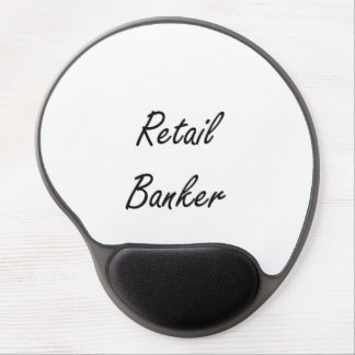 Retail Banker Artistic Job Design Gel Mouse Pad