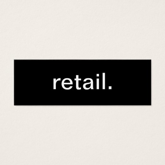 Retail Business Card