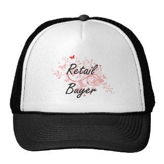 Retail Buyer Artistic Job Design with Butterflies Trucker Hat