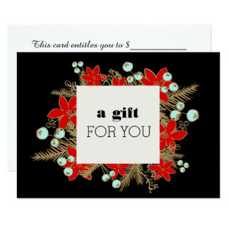 Retail Christmas Holiday Gift Certificate Card