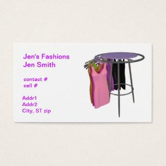 Retail Dress Rack Business Card