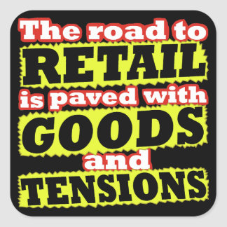 Retail Goods and Tensions Pun Sticker