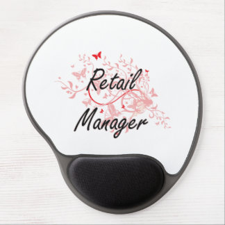 Retail Manager Artistic Job Design with Butterflie Gel Mouse Pad