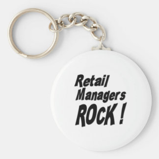 Retail Managers Rock! Keychain