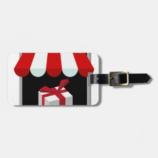 Retail Mobile Purchase Icon Bag Tag