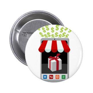 Retail Mobile Purchase Icon Pinback Button