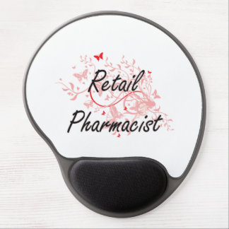 Retail Pharmacist Artistic Job Design with Butterf Gel Mouse Pad