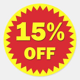 RETAIL SALE BADGE - 15% OFF CLASSIC ROUND STICKER