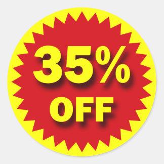RETAIL SALE BADGE - 35% OFF CLASSIC ROUND STICKER