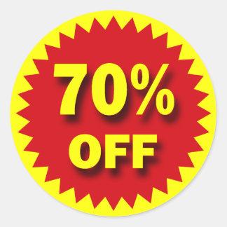RETAIL SALE BADGE - 70% OFF CLASSIC ROUND STICKER