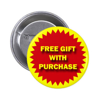 RETAIL SALE BADGE - FREE GIFT WITH PURCHASE BUTTON