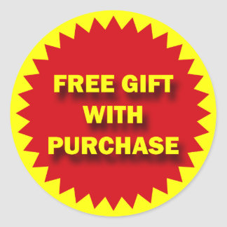 RETAIL SALE BADGE - FREE GIFT WITH PURCHASE CLASSIC ROUND STICKER