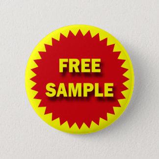 RETAIL SALE BADGE - FREE SAMPLE BUTTON