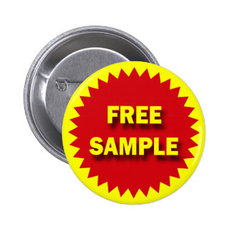 RETAIL SALE BADGE - FREE SAMPLE BUTTON