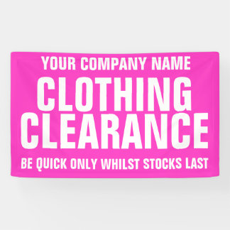 Retail sale store shop business signage banner