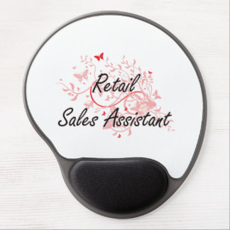 Retail Sales Assistant Artistic Job Design with Bu Gel Mouse Pad