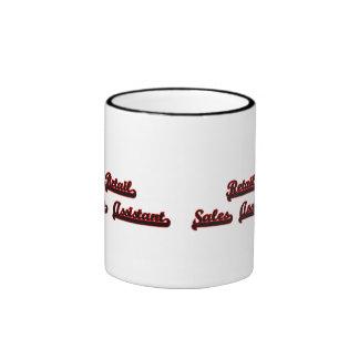 Retail Sales Assistant Classic Job Design Ringer Coffee Mug